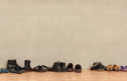Shoes with Wall Stock Photography