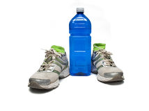 Shoes and water bottle Stock Image