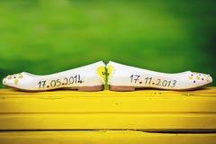Shoes, Wedding, Detail, Green Stock Image