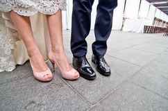 Shoes for a wedding Royalty Free Stock Photos