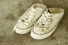 shoes white Royaltyfri Fotografi