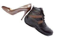 Shoes on white background Royalty Free Stock Photo