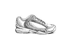 Sketch shoes Stock Images
