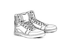 Sketch shoes Royalty Free Stock Photo