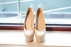 Shoes on Windowsill Royalty Free Stock Photos