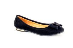 Shoes. Women's shoes black balyetka Stock Photography
