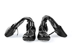 Shoes with a zip. Isolated shoes with a zip on a white background Royalty Free Stock Images
