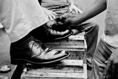 shoeshine Royaltyfri Foto
