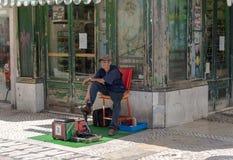Shoeshine man Royalty Free Stock Image