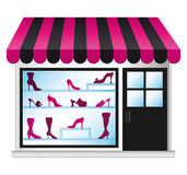 Shoeshop illustration. Royalty Free Stock Photos