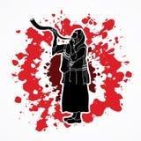 Shofar blowing graphic vector. Royalty Free Stock Photos