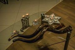 Shofar ferie synagoga judendom fotografering för bildbyråer