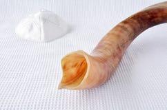 Shofar (horn) and Yamaka Stock Photography
