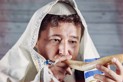 Shofar a tallit jewish religious symbol Royalty Free Stock Photography