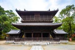 Shofukuji Zen Temple in Fukuoka, Japan. Hakata, Japan - November 28, 2014: Shofukuji has the distinction of being the first Zen temple constructed in Japan Royalty Free Stock Photography