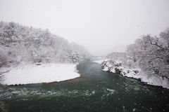 Shogawa河谷 库存图片
