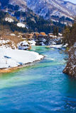 Shogawa River at Gassho-zukuri Village Royalty Free Stock Photo