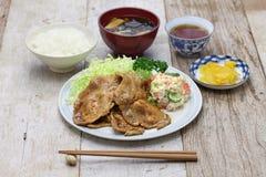 Shogayaki, japanese ginger pork Stock Image