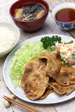 Shogayaki, japanese ginger pork Royalty Free Stock Images