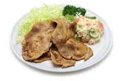 Shogayaki, japanese ginger pork Stock Photo