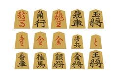 Shogi Stücke lizenzfreie stockfotografie