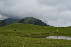 Shogran Пакистан верхней части Makra Стоковая Фотография RF