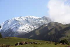Shogran do Mountain View Imagem de Stock Royalty Free