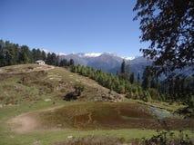 Shogran kullestation Pakistan Arkivfoton