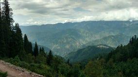 Shogran wzgórza stacji widok od pai łąk zdjęcie royalty free