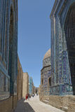 Shohizinda - a monument of medieval architecture in Samarkand. Royalty Free Stock Photography