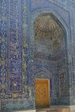 Shohizinda - a monument of medieval architecture in Samarkand. Royalty Free Stock Photos