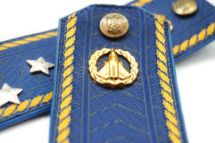 Shoilder strap of Ukrainian senior lieutenant Stock Image