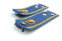 Shoilder strap of Ukrainian senior lieutenant Royalty Free Stock Images