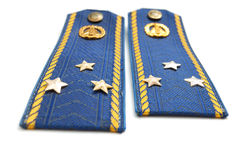 Shoilder strap of Ukrainian senior lieutenant Royalty Free Stock Photography