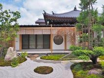 Shoin Hall et jardin japonais au temple de Hase-dera Images libres de droits