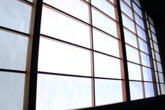 Shoji ślizgowego drzwi tło Obraz Royalty Free