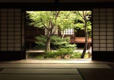 Shoji drzwi, Nijo kasztel, Kyoto Japonia Obrazy Royalty Free