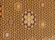 Shoji and kumiko pattern - kaza-guruma Royalty Free Stock Photos