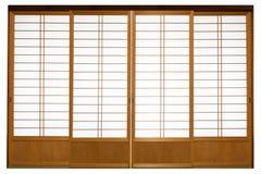 Shoji, porte japonaise traditionnelle photo libre de droits