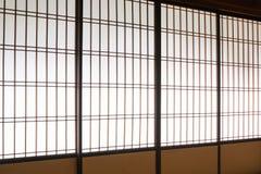 Shoji , Traditional Japanese door. Window or room divider consisting Royalty Free Stock Photos