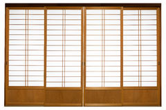Shoji , Traditional Japanese door. Window or room divider consisting Royalty Free Stock Photo