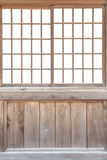Shoji , Traditonal Japanese door. Window or room divider consisting of translucent paper over a frame of wood Royalty Free Stock Images