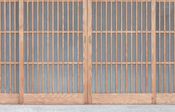 Shoji , Traditonal Japanese door. Window or room divider consisting of translucent paper over a frame of wood Royalty Free Stock Photography