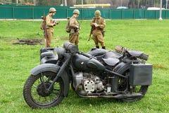 Reenactment of World War II events. royalty free stock photography