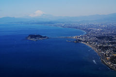 Shonan from the air Royalty Free Stock Photos