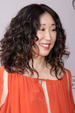 Shonda Rhimes,Sandra Oh. LOS ANGELES - APR 2:  Sandra Oh arriving at the Welcome To ShondaLand: An Evening With Shonda Rhimes & Friends at Leonard H. Goldenson Stock Image