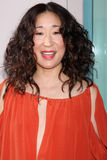 Shonda Rhimes,Sandra Oh. LOS ANGELES - APR 2:  Sandra Oh arriving at the Welcome To ShondaLand: An Evening With Shonda Rhimes & Friends at Leonard H. Goldenson Royalty Free Stock Photo