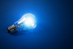 Shone electric bulb. Royalty Free Stock Photos