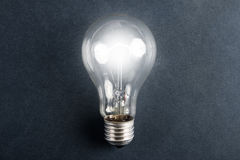 shone electric bulb. Royalty Free Stock Images