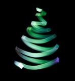 Shone green wavy trace. Symbol of Christmas trees vector illustration